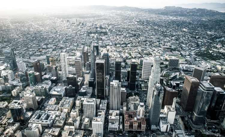 Los Angeles view from Helicopter